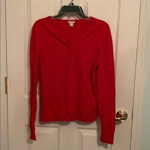 JCreq Large Red Cardigan